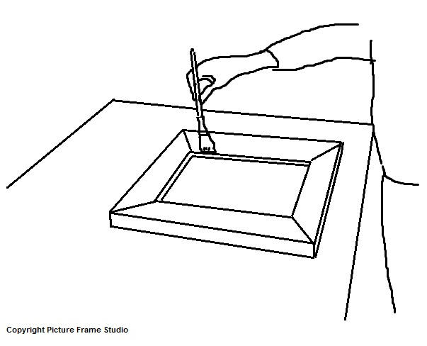 How to apply gesso to picture frames